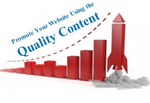promote your website using the quality content