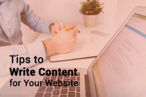 Write Content for Your Website