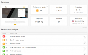pingdom website speed test seo tool