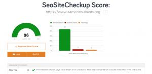seo sitecheckup tool