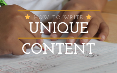 What is and how to write unique content