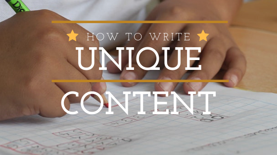 how to write unique content
