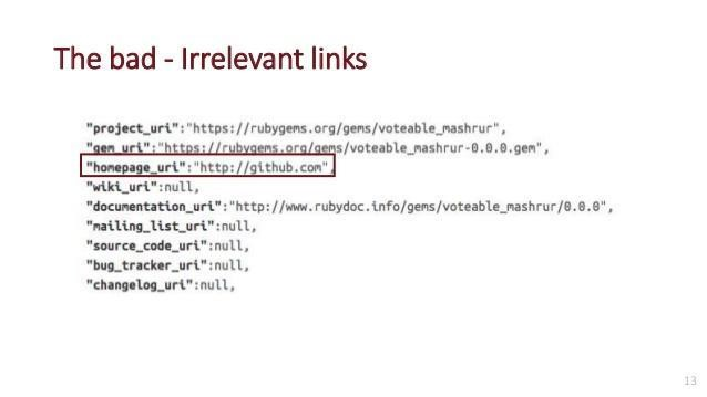 bad internal links