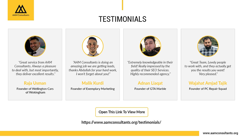 AAM Consultants Reviews and Testimonials